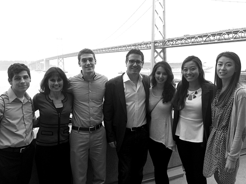 Brad O'Neill '93 with students on 1st K to the Bay