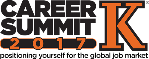 Text: Career Summit 2017, positioning yourself for the global job market.