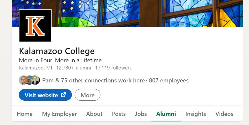 kalamazoo college alumni network on linkedin